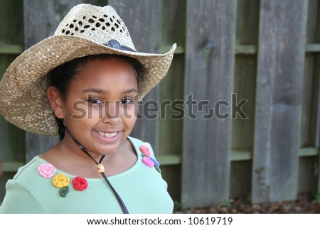 Little Country girl - stock photo