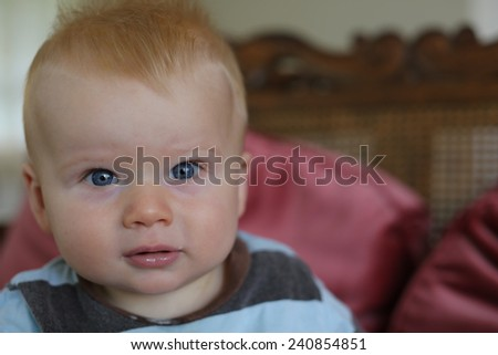 Little cute boy. - stock photo
