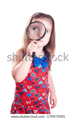 little detective - stock photo