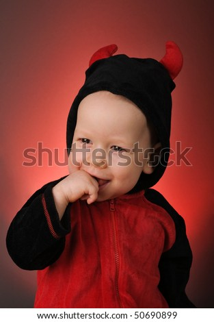 Little devil - stock photo