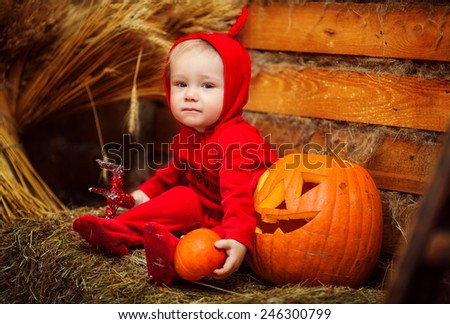 Little devil Halloween - stock photo