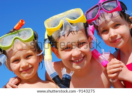 Little divers - stock photo