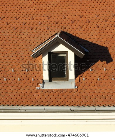 Little dormer and a new roof with roofing tile