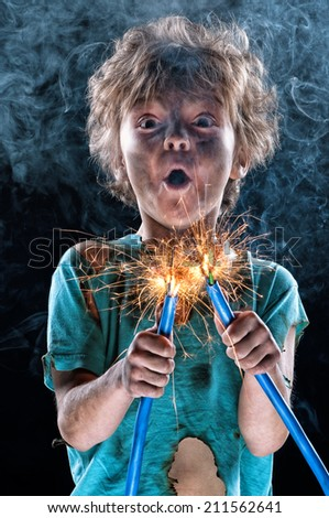 Little electrician - stock photo
