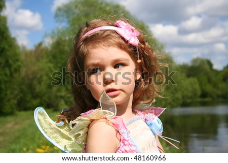 Little fairy princess - stock photo