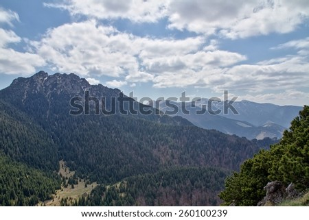 Little Fatra mountains, Slovakia, Central Europe - stock photo