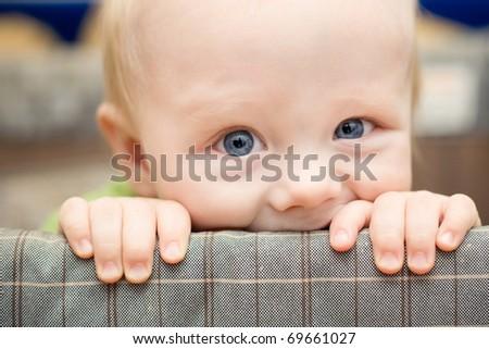 little funny boy - stock photo