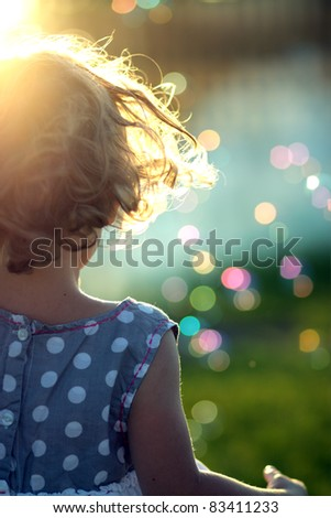 little girl abstract - stock photo