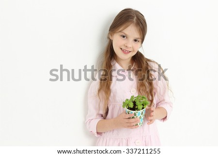 little girl and basilic