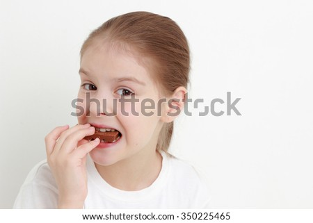 little girl and chocolate