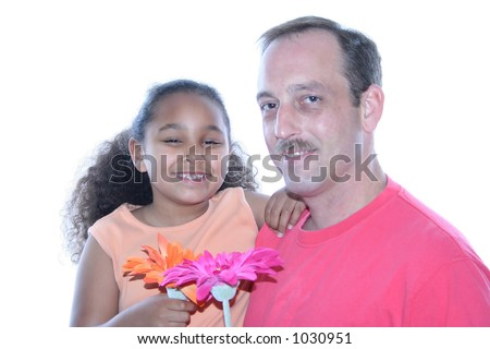 Little girl and her Dad. - stock photo
