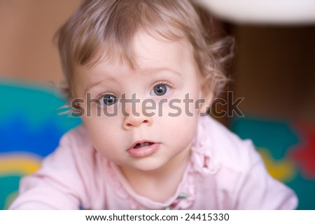 Little girl close-up face portrait - shallow DOF