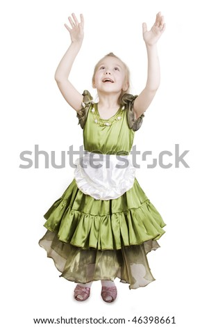 Little girl dressed as a pretty princess. - stock photo