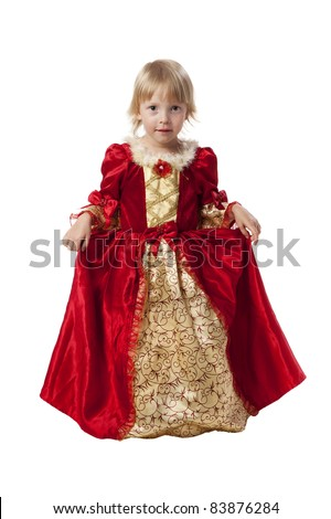 Little girl dressed like a pretty princess - stock photo