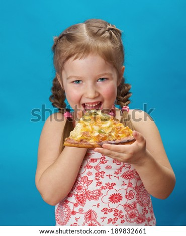 girl eating pizza Fat