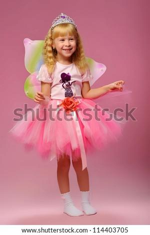 little girl fairy - stock photo