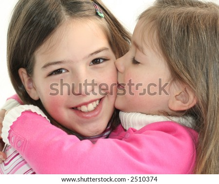 Big Kiss Little Girl