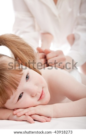 Little girl in a hospital - stock photo