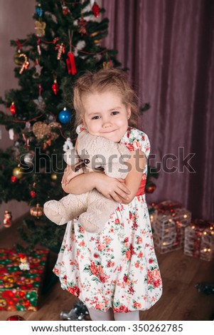 Little girl in christmas time