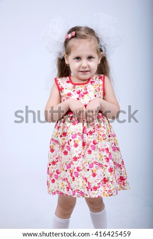 little girl in dress