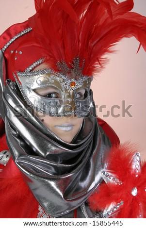 Little girl in venetian costume No.2 - stock photo