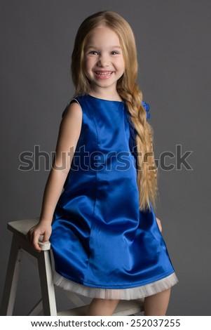 Little girl kid portrait - stock photo