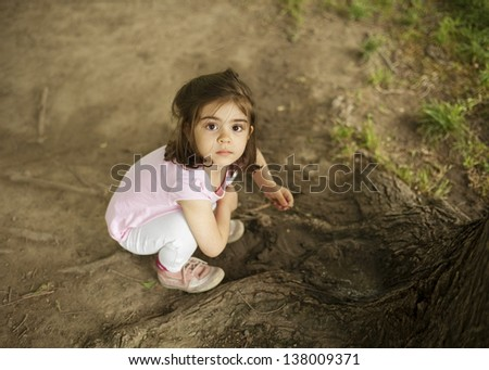 Little girl portrait - stock photo