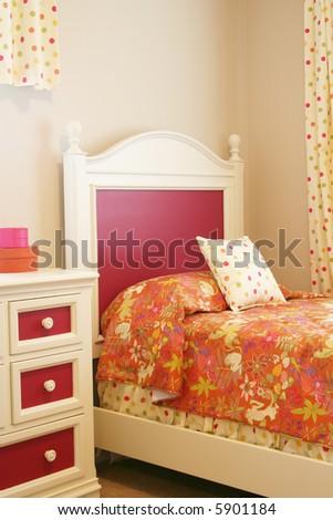Little girl's bedroom. - stock photo