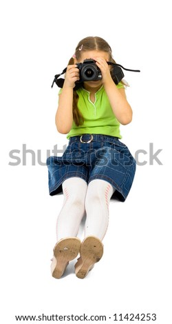 "little girl shoots with dslr camera - See similar images of this ""Young people"" series in my portfolio"
