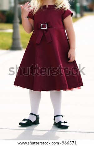 Little Girl Stance - stock photo