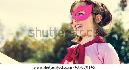 Little Girl Super Hero Concept