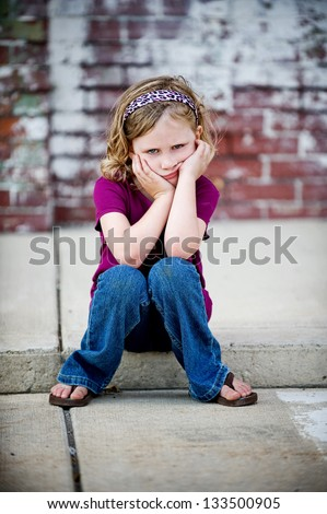 Little Girl Wearing Jeans Stock Photos Images Amp Pictures