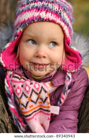 little girl winter portrait