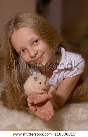 little girl with blond