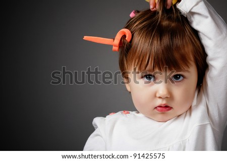 Baby Girl Little Hair Stock Photos, Images, & Pictures | Shutterstock