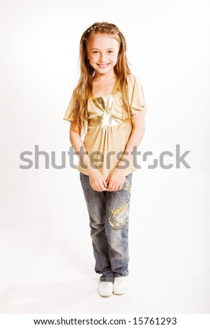little girl with cute  smile - stock photo