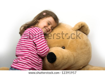 little girl with her teddybear