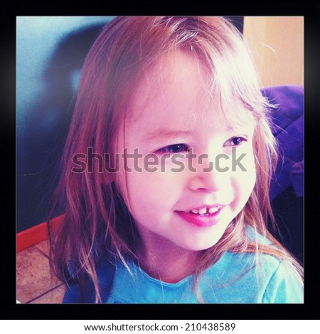 Little Girl- With Instagram effect