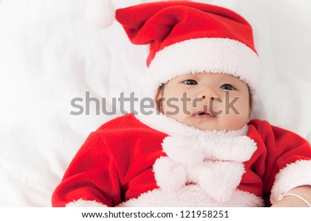 Little girl with santa costume