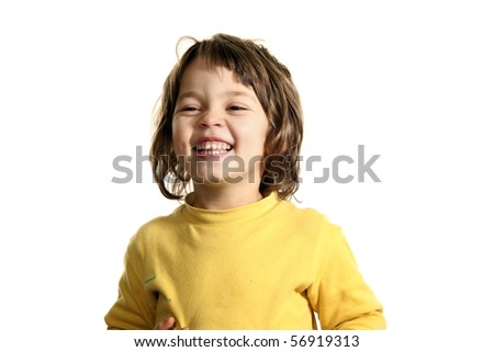 little girl with yellow sweater