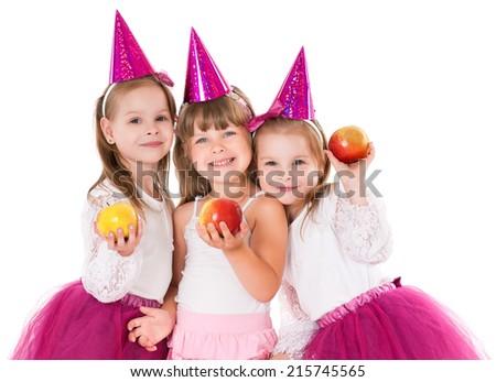 Little girls - stock photo