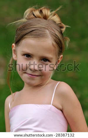 Little girls' portrait - stock photo