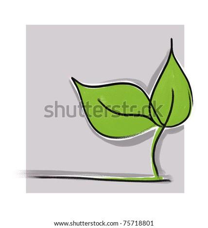 little green plant seedling - stock photo