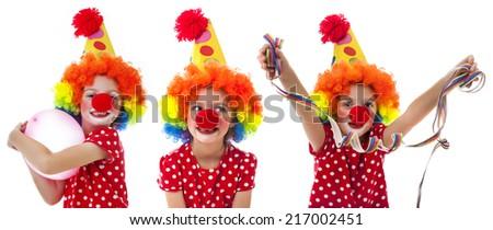 little happy clown - stock photo