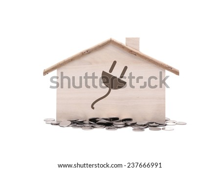 Little home with concept save energy save money - stock photo