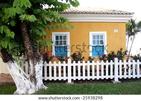 little house in Porto Seguro - Bahia - Brazil - stock photo