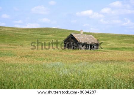 Little House on the Prairie Landscape - stock photo