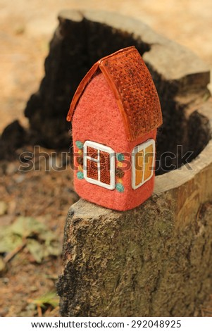 little house, toy  - stock photo