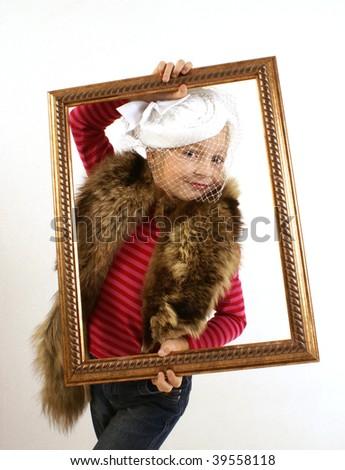 Little lady - stock photo