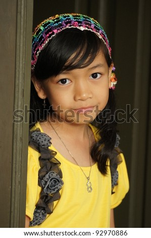 Little Lady in Yellow - stock photo